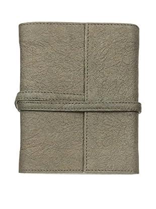 Marina Vaptzarov Medium Vegetal Leather Cover Travel Diary, Dark Brown/Grey