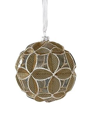 Sage & Co. Geometric Pattern Glass Ball Ornament