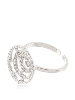 Silver One Anillo Espiral Zirconium