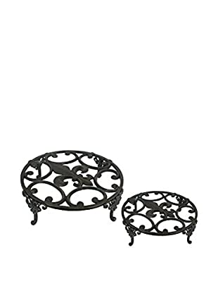 Three Hands Set of 2 Plant Stands