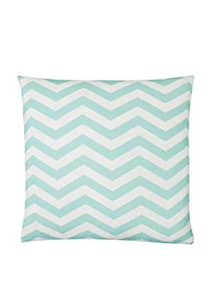 Twinkle Living Zig-Zag Pillow Cover, Seafoam/White, 18