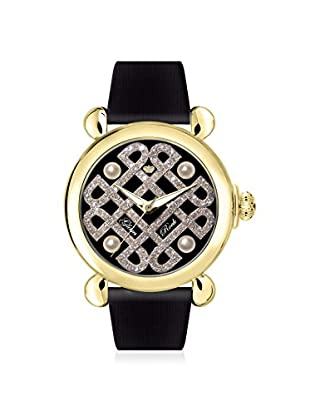 Glam Rock Women's GR28038 Vintage Glam Black Genuine Leather Watch