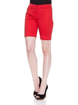 Carrera Jeans Bermuda Gabardina Stretch (Rojo)