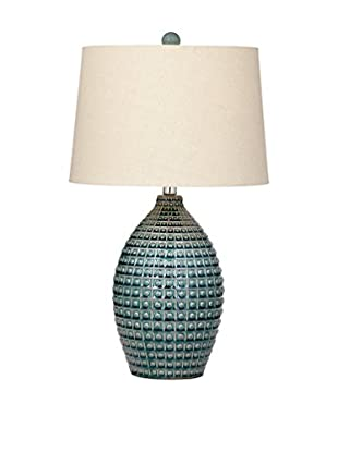 Bassett Mirror Company Hurst 1-Light Table Lamp, Aqua Blue
