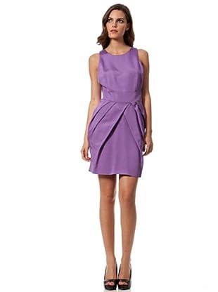 Caramelo Vestido Plisados Corto (lila)