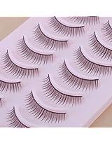 10 Pair Natural False Eyelashes Eye Lash Makeup 339