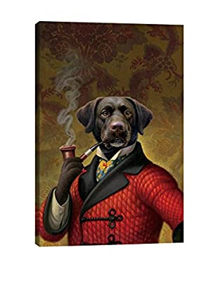 Dan Craig The Red Beret Dog Gallery Wrapped Canvas Print