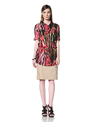 Calvin Klein  Women's Roll Sleeve Tunic (Paradise)