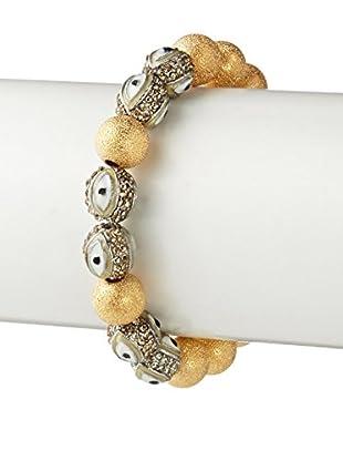 Gemelli Good Times Evil Eye Bracelet In Taupe