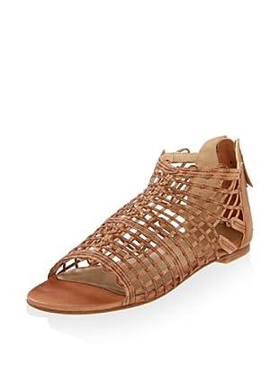 Stuart Weitzman Women's Squiggle Sandal (Adobe Vecchio Nappa)