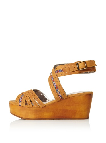 Charlotte Ronson Women's Georgia Wedge Sandal (Camel Floral)