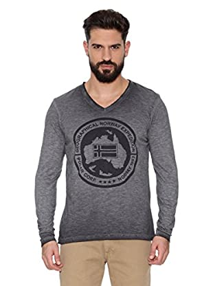Geographical Norway Camiseta Manga Larga ML Jabo Ls Men 402 (Gris Claro)