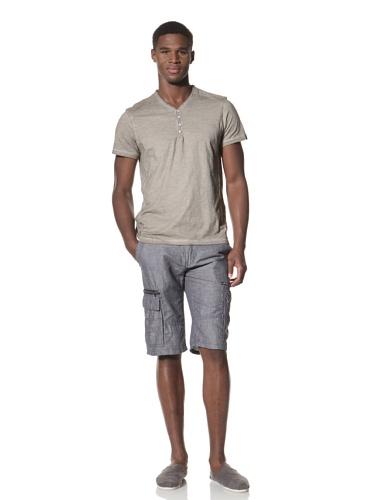 Projek Raw Men's Short Sleeve Henley Tee (Khaki)
