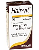 Super food HealthAid Hairvit 90 Capsules, Multivitamin and minerals for hair men and women