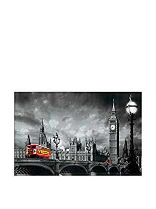 ARTOPWEB Wandbild Yannick Yanoff Bus On Westminster Bridge 115x175 cm