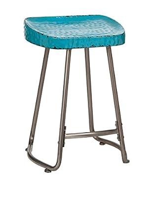 Premier Housewares Hocker Artisan Blau