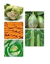 J.K Agro Vegetables Seeds Combo of 5 in 1 - Bottle Gourd + Brinjal + Cabbage + Carrot + Cauliflower