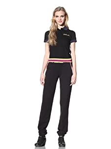 Just Cavalli Women's Sweatpants with Striped Waistband (Black)
