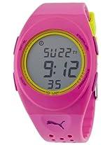 Puma Puma Faas 250 Digital Dial Pink Silicone Unisex Watch Pu910942004 - Pu910942004