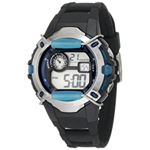Armitron Unisex 457008BLU Silver-Tone and Blue Accented Chronograph Digital Sport Watch