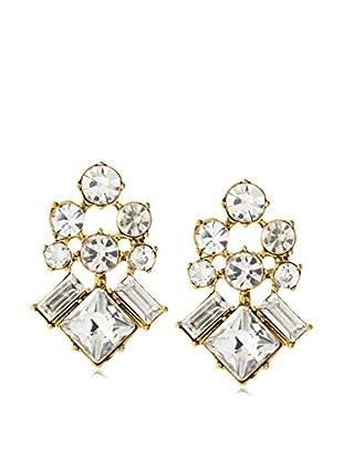 Stella & Ruby White Four Corner Stud Earrings