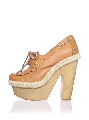 Be&D Women's Clara Platform Boat Shoe (Camel)