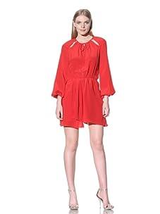 Jay Godfrey Women's Marceau Long Sleeve Dress with Cutouts (Red)