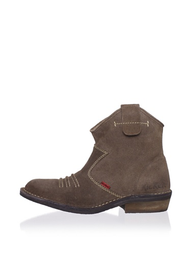 Kickers Kid's Starlow Short Boot (Big Kid) (Brown)