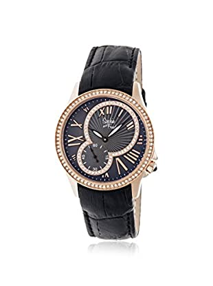 Sophie and Freda Women's SF2805 Toronto Black Leather Watch