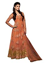 Jinaam Dress Women's Net Salwar Suit Sets (Jd-5041 _Orange _Free Size)