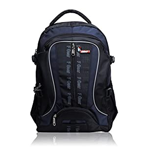 F Gear Polyester 25Litres Black Blue School Bag