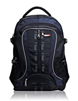 F Gear Chill Black Blue School Bag