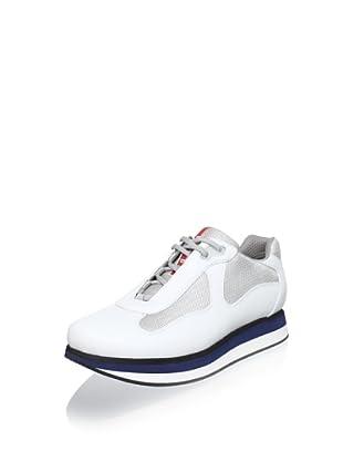 Prada Sport Men's Platform Sneakers (White)