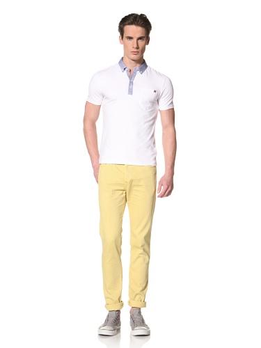 Antony Morato Men's Contrast Collar Polo (White)