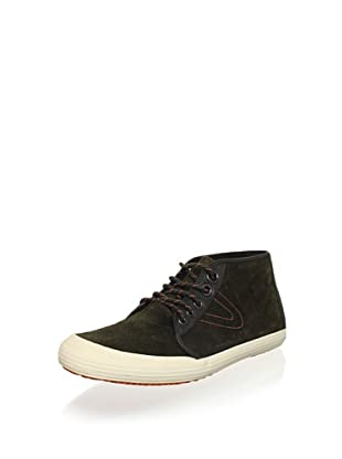 Tretorn Men's Krona Mid Leather Chukka Sneaker (Balsam Green)