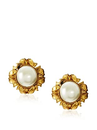 CHANEL Faux Pearl Clip Earrings
