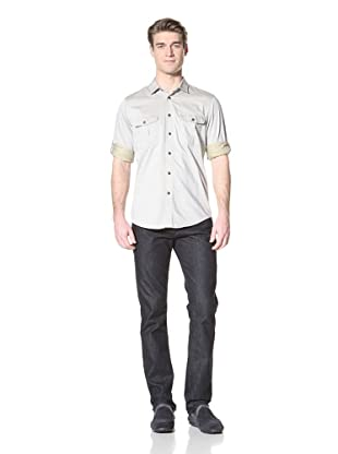 Ben Sherman Men's Plectrum Double Faced Twill Shirt (White Sand)