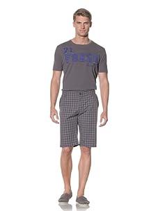 Fresh Men's Plaid Short (Grey)