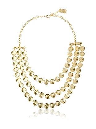 Karine Sultan Jewelry Triple Row Medallion Necklace