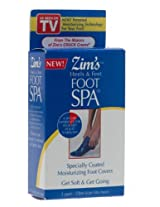 Zim's Heels and Feet Foot Spa Specially Coated Moisturizing Foot Covers, 3-Pair Boxes (Pack of 3)