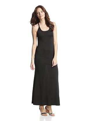 JOSA Tulum Women's Maxi Dress with Crisscross Straps (Black)
