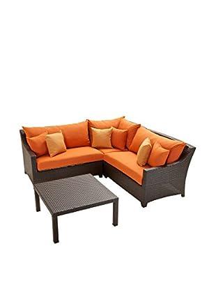 RST Brands Deco 4-Piece Corner Sectional Set, Orange
