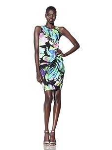 Suzi Chin Women's Sleeveless Printed Jersey Dress (Mineral/Multi)