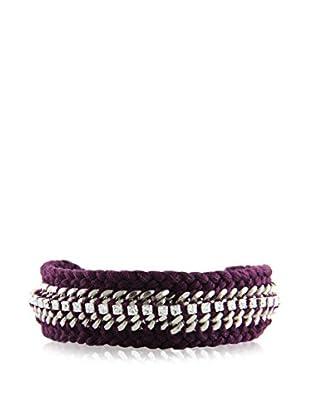 Ettika Silver & Violet The Outsider Bracelet