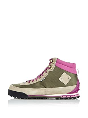 The North Face Botas Back-To-Berkeley II (Gris / Verde Oliva / Rosa)