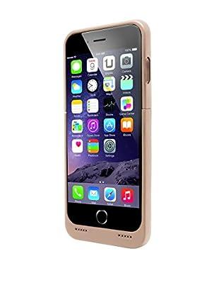 Unotec Schutzhülle mit Ersatzakku iPhone 6 / 6S Powercase goldfarben