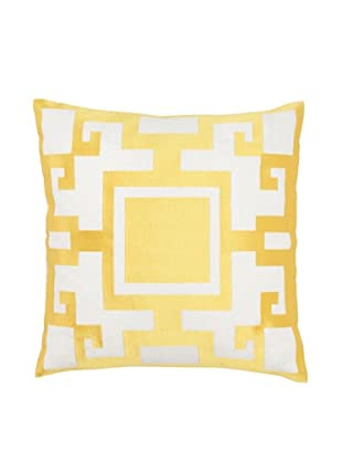 Jennifer Paganelli Kara Linen Pillow, Yellow