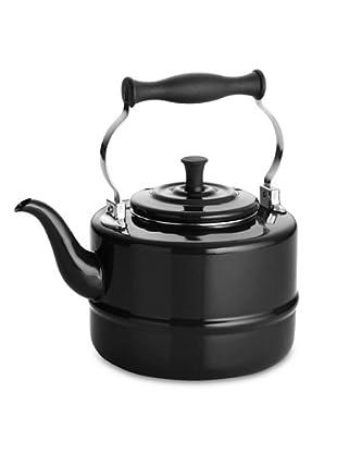BonJour 2-Qt. Porcelain Tea Kettle (Black)
