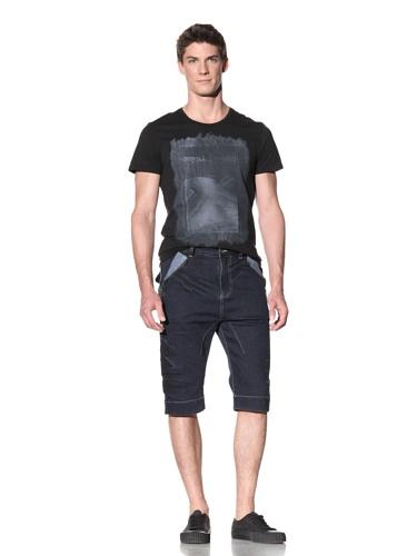 Rogue Men's Denim Shorts with Zip Side Pocket (Navy)