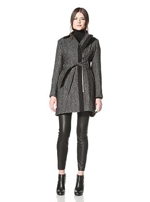 Vince Camuto Women's Tweed Coat (Black/White)
